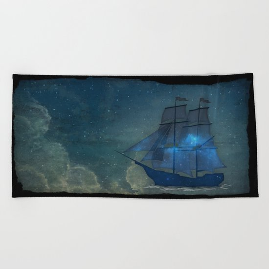 Ships and Stars Beach Towel