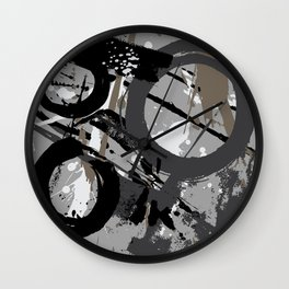Enso Groove C by Kathy Morton Stanion Wall Clock