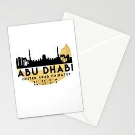 ABU DHABI UNITED ARAB EMIRATES SILHOUETTE SKYLINE MAP ART Stationery Cards