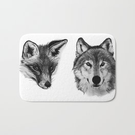 Vulpes vulpes, canis lupus Bath Mat