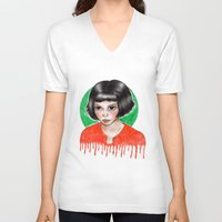 amelie V-neck T-shirts featuring Amelie by ARTEMYSA