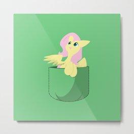 Pocket Fluttershy Metal Print