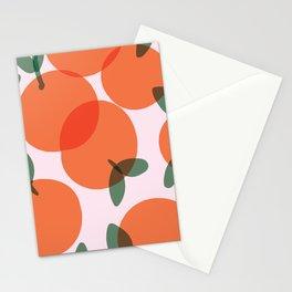 Oranges Pattern - simple orange illustration Stationery Cards