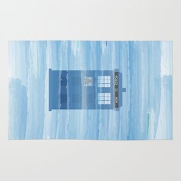 TARDIS Under the Sea - Doctor Who Digital Watercolor Rug