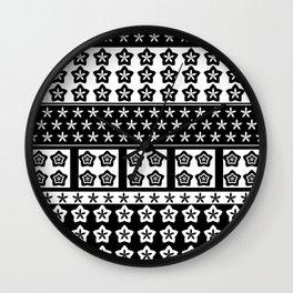 Japanese Style Kawaii Stars Patchwork Wall Clock