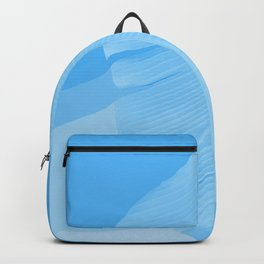 Tropical Banana Leave Pastel Blue Ombre Design Backpack