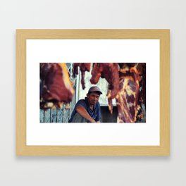Meat vignette  Framed Art Print