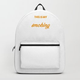 This Is My Meat Smoking Shirt Barbecue Party Backpack