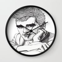 smiths Wall Clocks featuring This Charming Man  by Paul Nelson-Esch Art