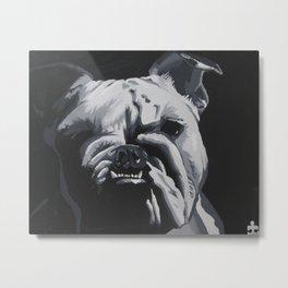 3 Visions Art English Bulldog Metal Print