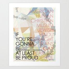 If You're Art Print