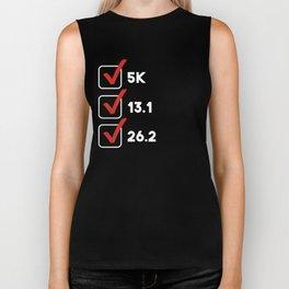 5K Half Marathon Full Marathon Runner Checklist Biker Tank