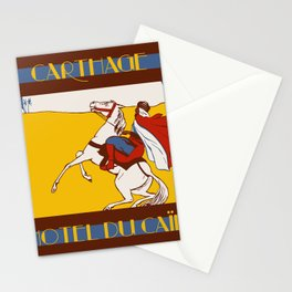 Vintage style 1920s Carthage travel advertising Stationery Cards
