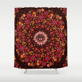 Fall Pug Medallion Shower Curtain
