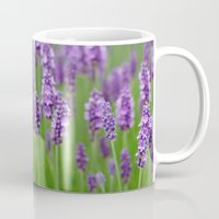 lavender Mugs featuring lavender by GISMANA
