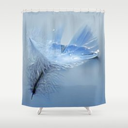 Simply sailing feather Shower Curtain