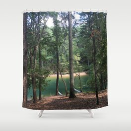 forest lagoon view Shower Curtain