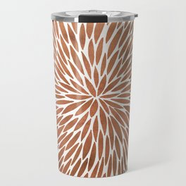 Rose Gold Burst Travel Mug