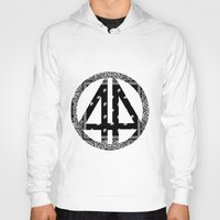 bands Hoodies featuring Floral bands by ART ON CLOTH