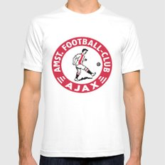AFCA Ajax Amsterdam SMALL White Mens Fitted Tee