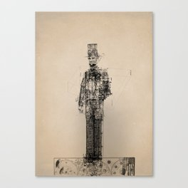 American Blueprint Canvas Print