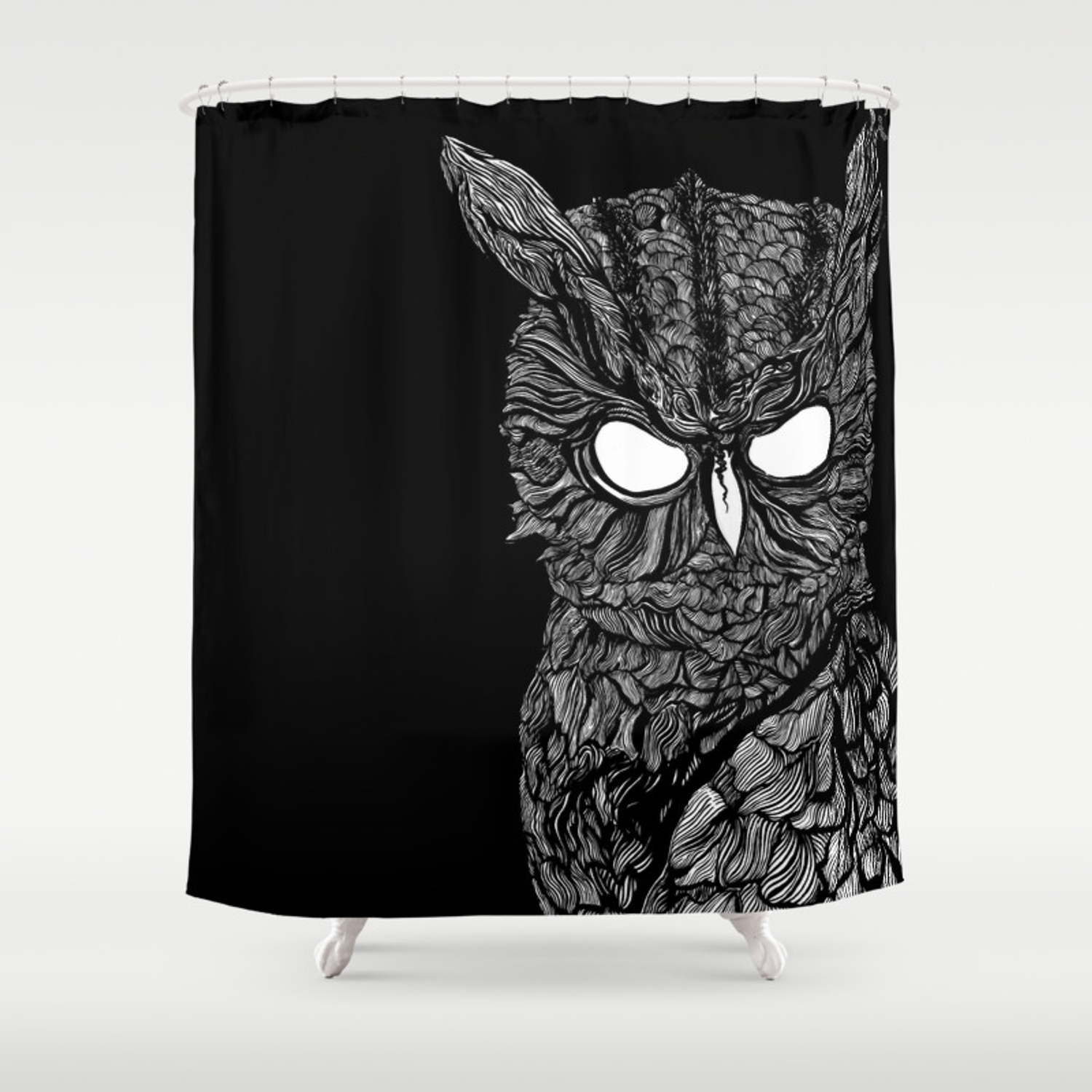 Demon Owl Shower Curtain