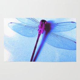 Iridescent Dragon Fly - Digital Photography Art Rug