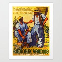 ils ont toujours soutenu le vintage Poster Art Print