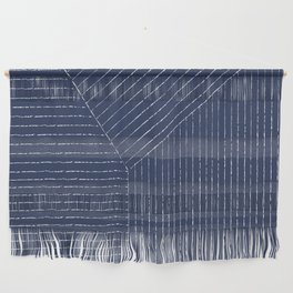 Lines / Navy Wall Hanging