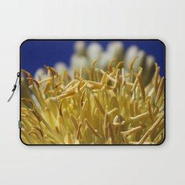Butter Yellow Stamen of Century Plant on Ocean Blue Laptop Sleeve