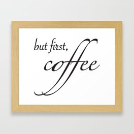 coffee type Framed Art Print