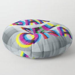 Barcelona Glitch Psychedelic Floor Pillow