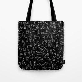 Dogs Fun Black Tote Bag
