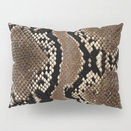 Faux Rock Python Snake Skin Design Pillow Sham