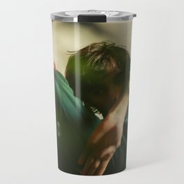 Dancing people, dance, shadows, hands and plants, blurred photography, artistic, forest, yoga Travel Mug