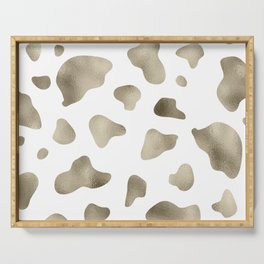 Golden cow hide print Serving Tray