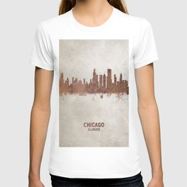 Chicago Illinois Rust Skyline T-shirt
