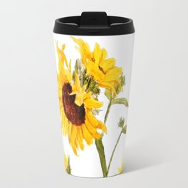 One sunflower watercolor arts Travel Mug