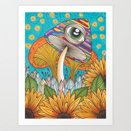 Magic Mushrooms Art Print