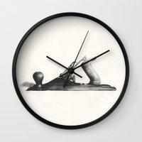 plane Wall Clocks featuring Plane by Workshop Decor