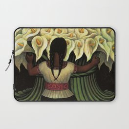 1941 Classical Masterpiece Calla lily 'Flower Seller' by Diego Rivera Laptop Sleeve