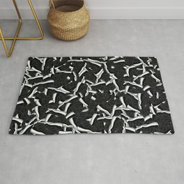 "Air Jordan 11 ""SJ"" Collage Print Rug"