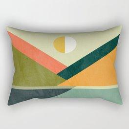 Hidden shore Rectangular Pillow