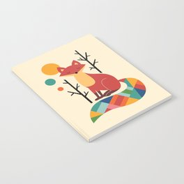 Rainbow Fox Notebook