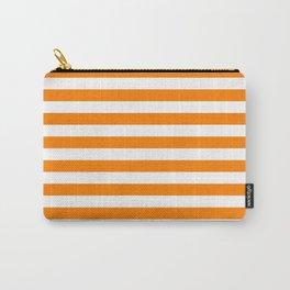 Horizontal Stripes (Orange/White) Carry-All Pouch