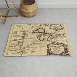 Map Of The Great Lakes 1688 Rug