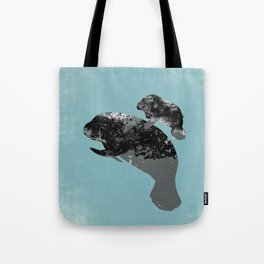 Manatee Mother and baby  Tote Bag
