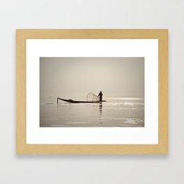 Inle Lake Myanmar Framed Art Print