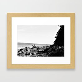 the shore Framed Art Print