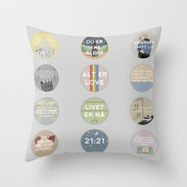 EVAK: A MINIMALIST LOVE STORY VOL. II Throw Pillow